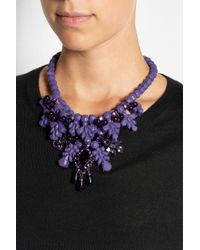 EK Thongprasert - Purple Port De Bras Coated Brass, Silicone And Crystal Necklace - Lyst