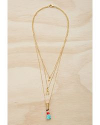 Forever 21 | Metallic Half United The Polynesian Necklace | Lyst