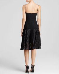 Black Halo - Black Dress - Catalyna Sleeveless V-Neck Polka Dot Skirt - Lyst