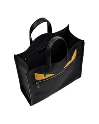 d48a284988f0 Fendi Bag Bugs Leather And Nylon Tote in Black for Men - Lyst