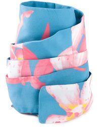 Pascal Millet - Blue Floral Print Belt - Lyst