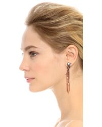 Katie Rowland - Pink L'eclipse Drop Earrings - Rose Gold/pearl/lavender - Lyst