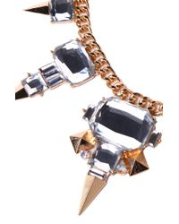 AKIRA - Metallic North Star Necklace in Gold Crystal - Lyst