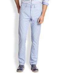 Saks Fifth Avenue - Blue Five-pocket Pastel Pants for Men - Lyst