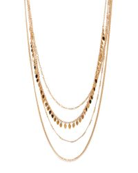 Forever 21 - Metallic Dainty Layered Chain Necklace - Lyst