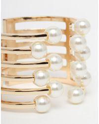 ALDO - Natural Chardoney Cuff Bracelet - Lyst