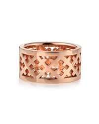 Katie Design Jewelry - Metallic Rose Gold Crosses Band Ring - Lyst