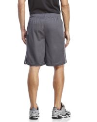 Reebok - Gray Perforated Performance Shorts for Men - Lyst
