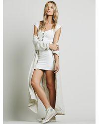 Free People | White Womens Eyelet Bodycon Dress | Lyst