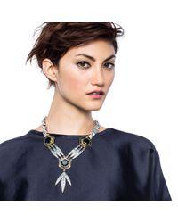 Lulu Frost - Metallic Nicandra Drop Necklace - Lyst