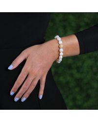 Jordan Alexander | Metallic White Pearl Bracelet | Lyst