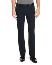 BOSS Blue Slim-fit Trousers In Cotton Blend: 'delaware2-ml-20' for men