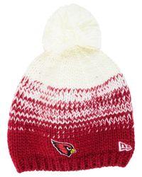 KTZ - White Women's Arizona Cardinals Polar Dust Knit Hat - Lyst