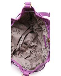 Foley + Corinna - Purple Cache Snake-embossed Leather Crossbody Bag - Lyst