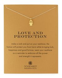 Dogeared - Metallic Love & Protection Gold-dipped Pendant Necklace - Lyst