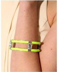 Pixie Market - Yellow Neon Lime Diamond Bangle - Lyst