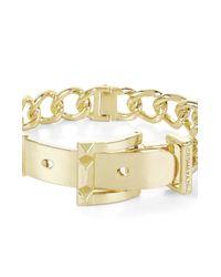 BCBGMAXAZRIA | Metallic Pyramid-buckle Chain Bracelet | Lyst