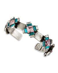 DANNIJO | Metallic Alexia Crystal-station Cuff Bracelet | Lyst