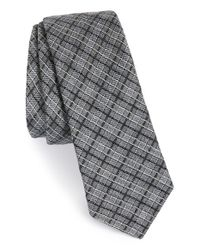 W.r.k. | Gray Check Wool, Silk & Cotton Tie for Men | Lyst