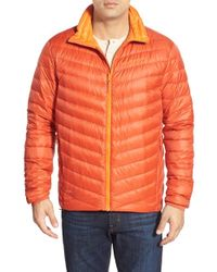 Helly Hansen | Orange 'verglas' Quilted Water Repellant Down Jacket for Men | Lyst