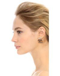 Elizabeth Cole | Metallic Loyce Earrings - Marble Blue | Lyst