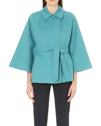 Max Mara | Blue Robina Wool-blend Cape | Lyst