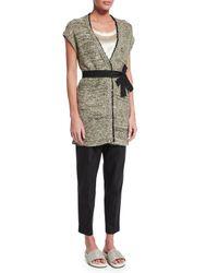 Brunello Cucinelli - Black Striped Cotton-Blend Pants  - Lyst