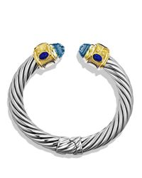 David Yurman | Metallic Renaissance Bracelet with Blue Topaz Iolite Gold | Lyst