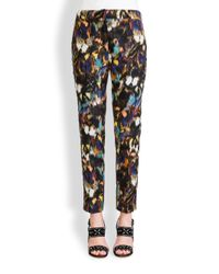 Valentino | Multicolor Butterfly Ikat Ankle Pants | Lyst