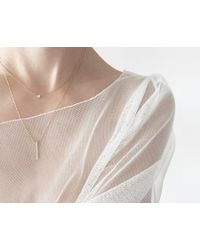 Vrai & Oro | Pink Diamond Line Necklace | Lyst