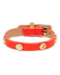 Marc By Marc Jacobs - Red Screw Leather Bracelet - Lyst