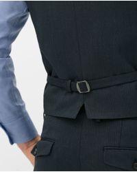 Zara | Blue Birdseye Suit Waistcoat for Men | Lyst