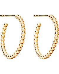 Astley Clarke | Beaded 14ct Yellow Gold-plated Sterling Silver Hoop Earrings | Lyst