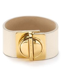Marc By Marc Jacobs - White Circle in A Square Leather Bracelet - Lyst