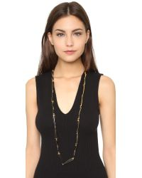 Maiyet | Double Spear Necklace - Black | Lyst
