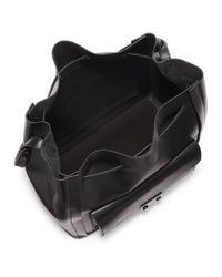 Loeffler Randall - Black Lock Drawstring Bucket Bag - Lyst