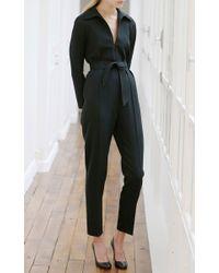 Martin Grant - Black Fitted Jumpsuit - Lyst