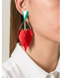 Silvia Rossi - Green 'odd Couple' Earrings - Lyst