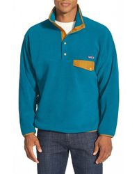 Patagonia | Blue 'synchilla Snap-t' Pullover for Men | Lyst