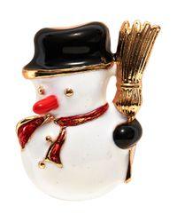 R.j. Graziano | Metallic Snowman Pin | Lyst