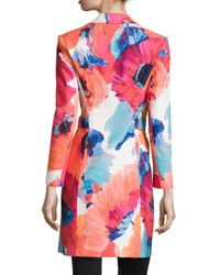 Trina Turk - Multicolor Long-Sleeve Notched Collar Topper - Lyst