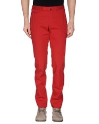 Incotex - Red Casual Trouser for Men - Lyst