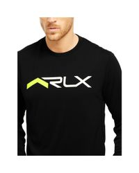 "Ralph Lauren | Black ""rlx"" Graphic T-shirt for Men 