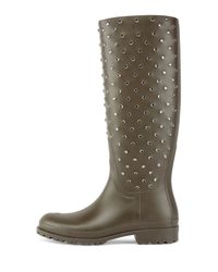Saint Laurent - Natural Crystal Rubber Rain Boot - Lyst