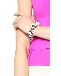 kate spade new york - Black Lucky Streak Hinged Tiger Bangle Bracelet - Multi - Lyst
