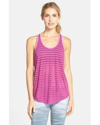 Hard Tail | Purple Slouchy Racerback Tank | Lyst