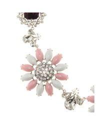 Miu Miu - Metallic Crystal-embellished Necklace - Lyst
