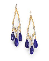 Alexis Bittar | Blue Elements Maldivian Lapis & Crystal Draped Vine Teardrop Earrings | Lyst