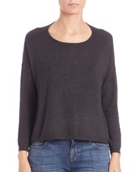Eileen Fisher - Gray Ponte Crewneck Top - Lyst