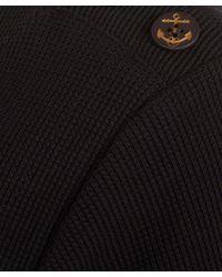 A.P.C. - Blue Navy Gold Button Detail Cotton Knit Jumper - Lyst